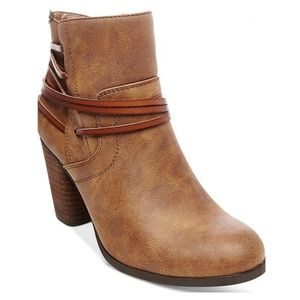 "Madden Girl ""Denice"" brown ankle booties size 9"